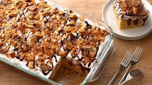 peanut butter chocolate poke cake recipe cake recipes and