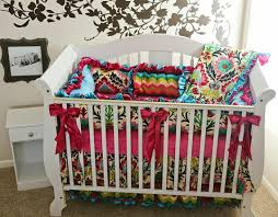 Custom Crib Bedding Sets Custom Baby Crib Set Fancy Floral Premium Crib Bedding Set 4 Pc
