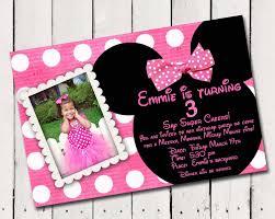 Minnie Mouse Invitation Card Minnie Mouse Birthday Invitations Personalized Kawaiitheo Com