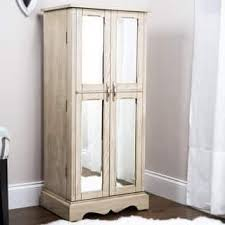 mirror jewelry armoires jewelry armoire furniture for less overstock com