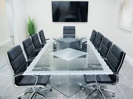 Office Conference Table Magnificent Rectangle Transparent Glass Conference Table Sturdy