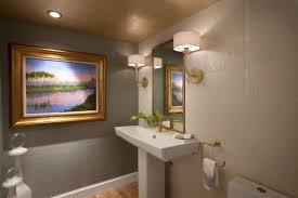 Elegant Powder Room Coastal Penthouse W Design Interiors