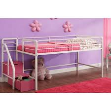 zoomie kids catalina junior twin loft bed with storage u0026 reviews