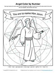 angel coloring pages joseph was told about jesus