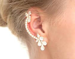 trendy earrings climbing earrings bridal ear climbing earrings swarovski ear