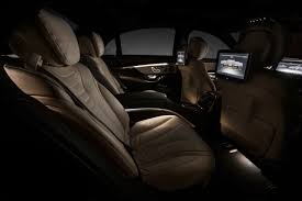 mercedes s class rear seats check out the official interior pics of the 2014 mercedes s