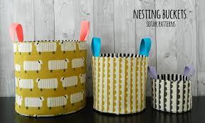 s o t a k handmade nesting buckets pdf pattern misc sewing