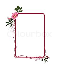 rose flower frame stock vector colourbox