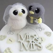 birds wedding cake toppers and groom bird wedding cake topper by feltmeupdesigns
