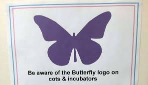 grieving creates purple butterfly stickers to help fellow nicu