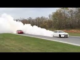 charger hellcat burnout 3 hellcat chargers burnout youtube