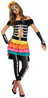 Skeleton Costume For Halloween Teen Dia De Los Muertos Costume Buycostumes Com
