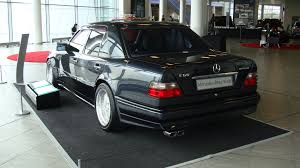 w124 e60 amg with square tip exhaust and 19