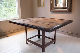 reclaimed wood square dining table handcrafted reclaimed wood dining table at 1stdibs