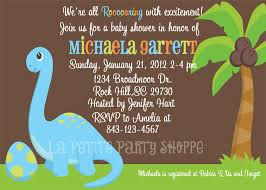 dinosaur baby shower invitations template best template collection