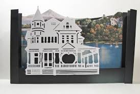 house tunnel book pop up card paper crafts
