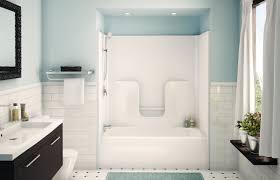 mesmerizing doorless bath and shower combined with hidden lamps