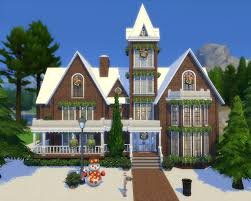 House Lots Simplicity Ts4 Victorian Gingerbread House Base Game No Cc