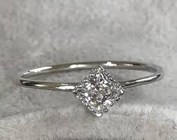 Wedding Rings White Gold by Engagement Rings Etsy