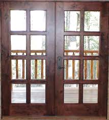 interior wood doors with glass black metal handle for custom solid wood exterior patio doors with