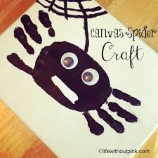 canvas spider and ghost halloween craft life without pink