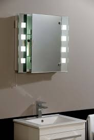 bathroom cabinet with light and mirror above the lighting how to
