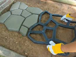 Cleaning Concrete Patio Mold Garden Paving Plastic Mold For Garden Concrete Molds For Garden