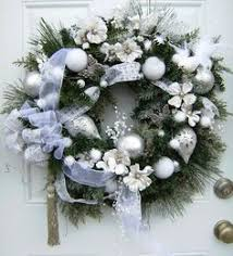 glittery large silver and white wreath sparkling wreath