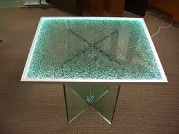 frosted glass table top replacement shattered glass edge lit glass dining tables sans soucie