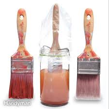 what should i use to clean my painted kitchen cabinets paint brush care how to clean dried paint brushes diy