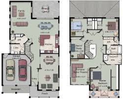 Small House Designs And Floor Plans Duplex Small House Design Floor Plans With 3 And 4 Bedrooms