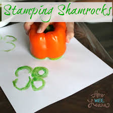 st patrick u0027s day craft pepper stamping how wee learn