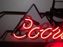 l k coors light beer baseball helmet neon light up sign sports