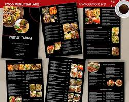 editable menu templates food menu template id26 brochure templates creative market
