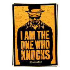 breaking bad i am the one who knocks television posters retro