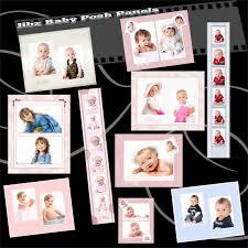 baby posh fashionable digital templates for wedding and children