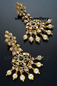 pachi earrings pachi work earrings by sitara jewellery designs