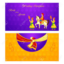 Wedding Invitation Cards Indian Vector Illustration Of Indian Wedding Invitation Card Royalty Free