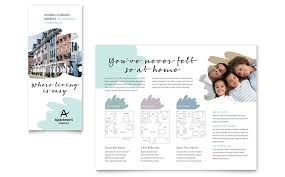 apartment brochure template design
