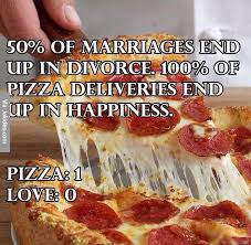 Memes About Pizza - pizza 1 vs love 0