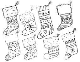 coloring page stocking color page coloring stocking color page