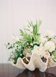 Seashell Centerpiece Ideas by Coastal Chic Palmetto Bluff Wedding Once Wed Shell
