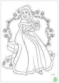 free christmas disney princess coloring pages christmas