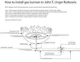 Propane Burners For Fire Pits - how to install a gas burner in my firebowls john t unger