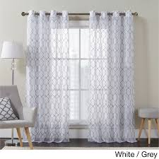 white embroidered curtain panels business for curtains decoration