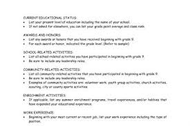 Scholarship Resume Example by Sample Resume For Scholarship Application Reentrycorps