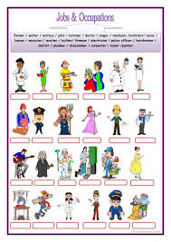 45 free esl jobs and occupations worksheets
