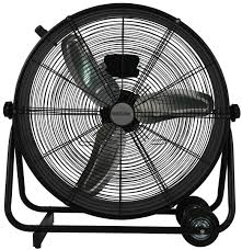 Wall Mounted Oscillating Fans Hurricane Pro High Velocity Metal Drum Fan 24 In