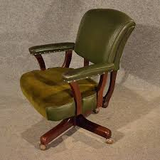 swivel captains chair antique leather office desk study swivel captains chair vintage