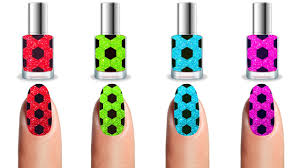 learn colors with soccer balls painting nails colors for kids